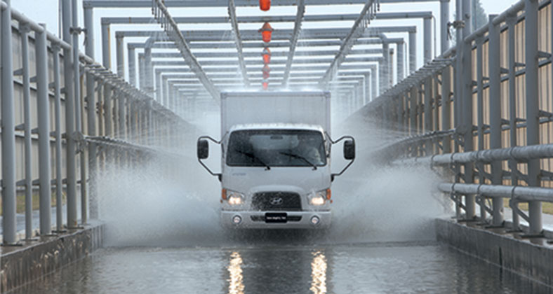 Gầm cao chống ngập trên xe tải Hyundai 7 tấn, Mighty 110s