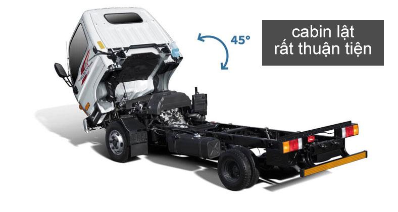 Đầu cabin lật thuận tiện trên xe tải Hyundai N250SL