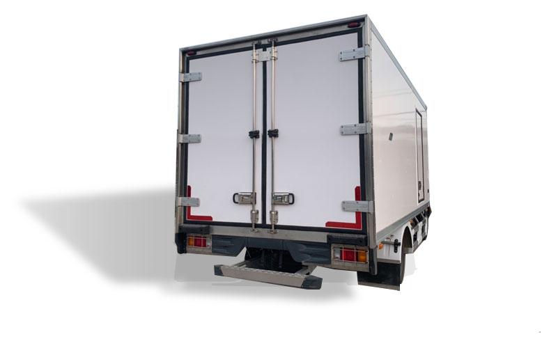 Xe tải thùng đông lạnh 3.5 tấn nhìn từ phía sau
