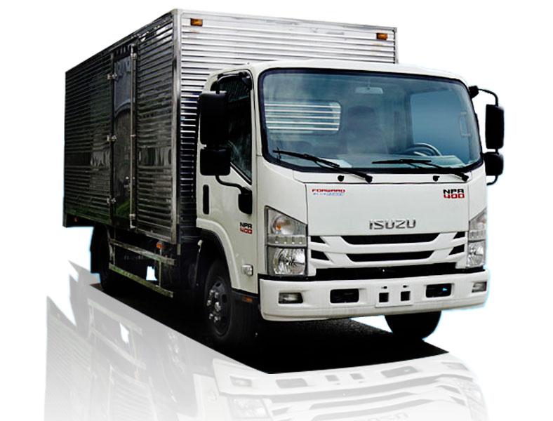 Xe tải thùng kín 3.5 tấn ISUZU, model NMR85HE4, NPR85KE4