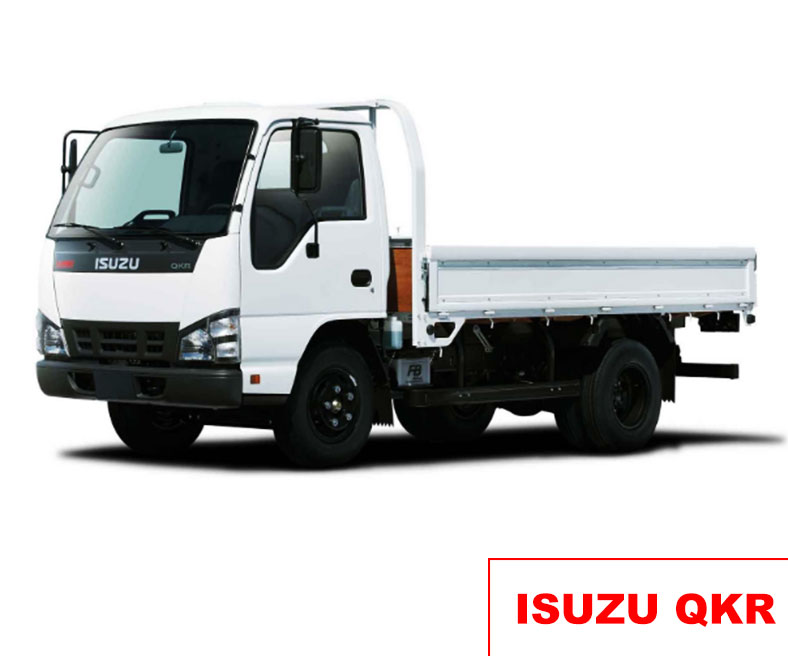 Xe tải ISUZU QKR thùng lửng chở kính, vật liệu xây dựng, tải trọng cho phép chở từ 1.9 tấn đến 2.4 tấn