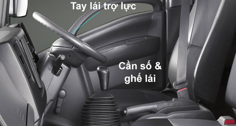 ghế hơi trang bị trên xe tải ISUZU NQR75ME4 tải trọng 5 tấn