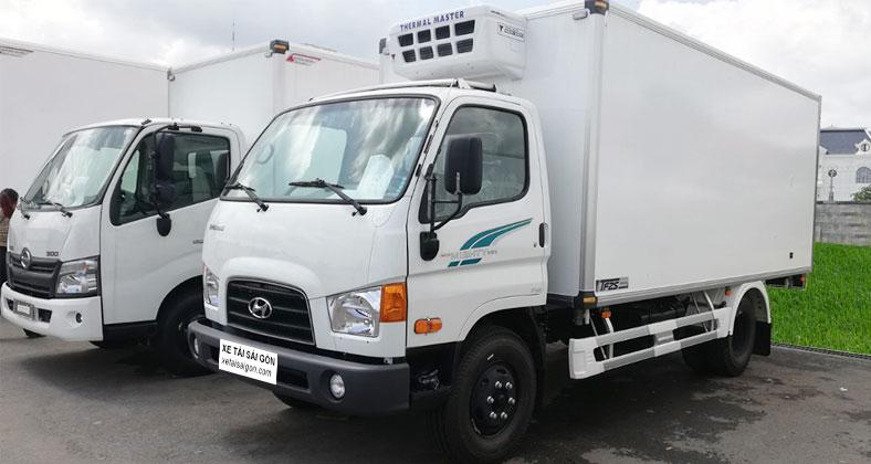 Chi tiết xe tải đông lạnh 7 tấn Hyundai 110s, mới 100%