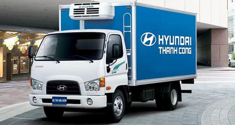 Đóng mới xe tải đông lạnh 7 tấn, nền xe Hyundai 110s, tải trọng chở 7 tấn