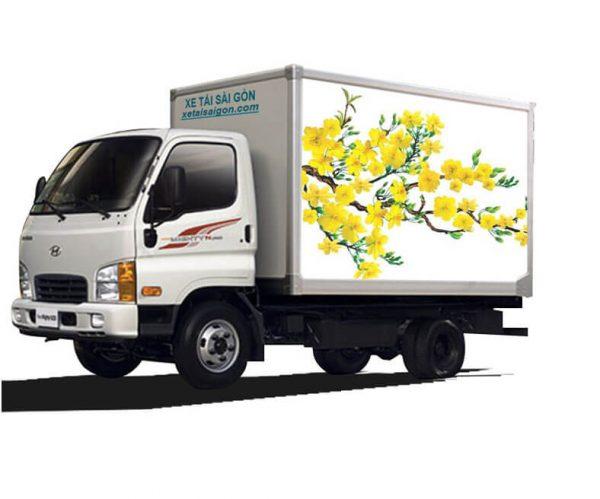 Xe tải thùng kín vách composite 2t5 Hyundai N250SL