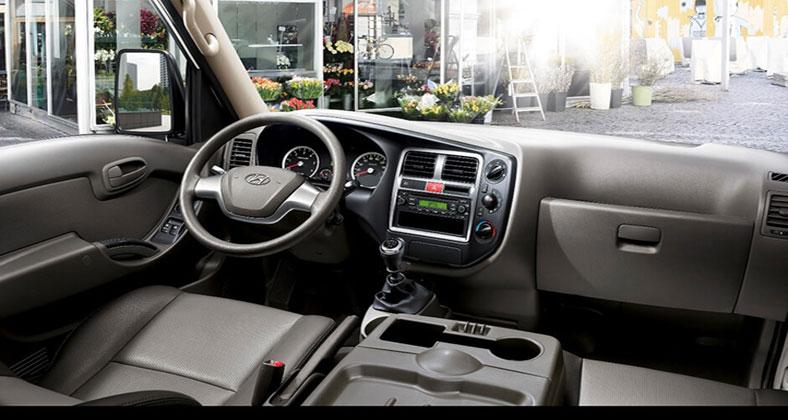 Tầm nhìn khoang cabin xe tải Hyundai 1 tấn