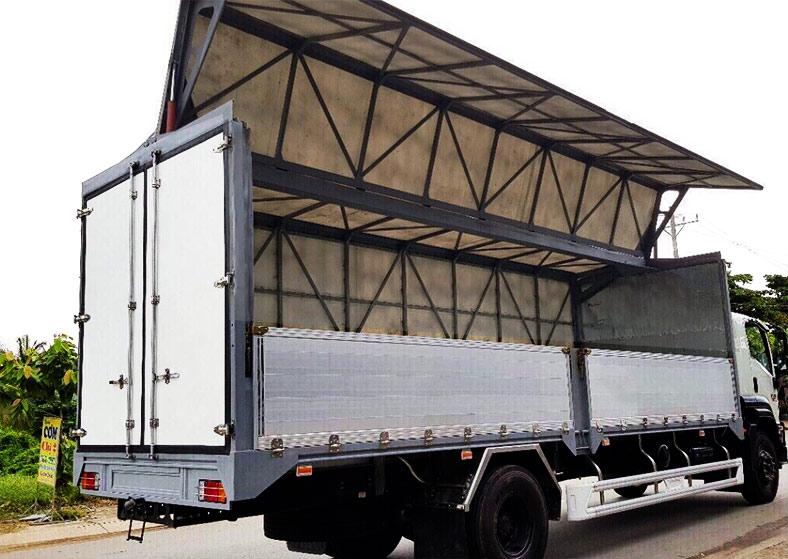 Xe tải thùng cánh dơi, đóng đẹp và chắc chắn