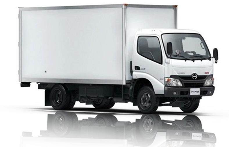 Xe tải thùng kín vách composite HINO 3.5 tấn