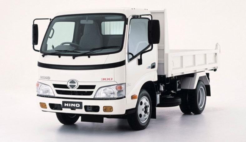 Xe ben chở đất, chở vật liệu xây dựng HINO 5 tấn