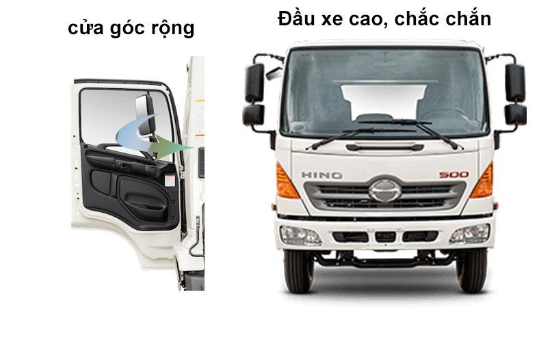 Gương hiếu hậu góc rộng, cửa góc rộng trên xe tải HINO 500