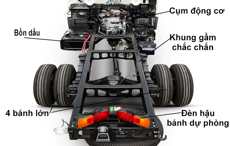 Khung gầm chassi xe tải 6.4 tấn HINO