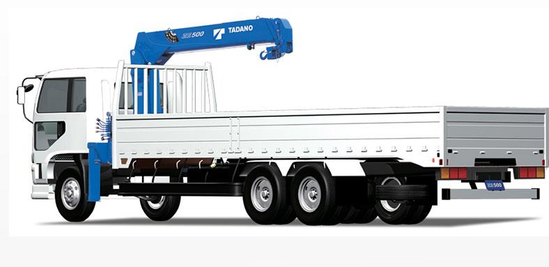 Xe tải cẩu ô tô thùng dài 6m1, tải trọng 5 tấn đến 10 tấn