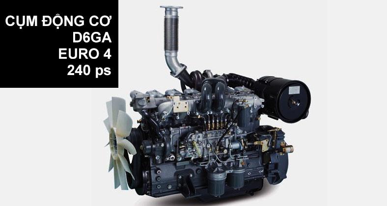 Cụm động cơ xe tải Hyundai HD240 nhập khẩu nguyên chiếc