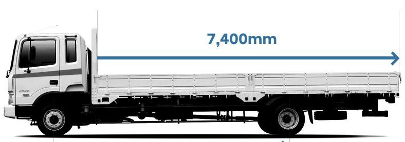 Xe tải thùng dài 7.4m của xe tải 15 tấn Hyundai HD240