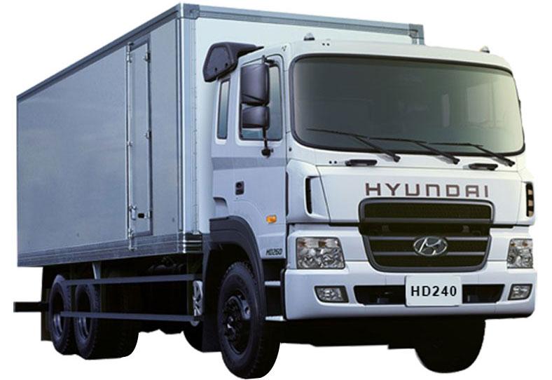 Xe tải thùng kín bảo ôn composite Hyundai HD240, tải trọng 15 tấn