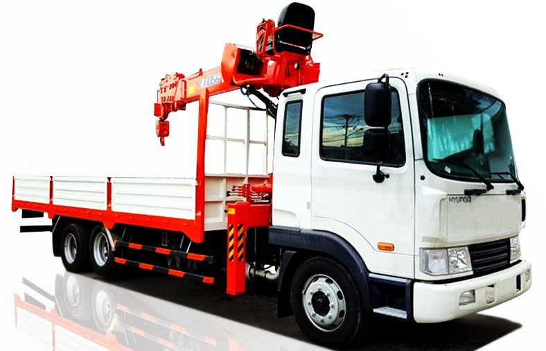 Xe tải cẩu Hyundai Hd240 15 tấn, tổng tải 24 tấn