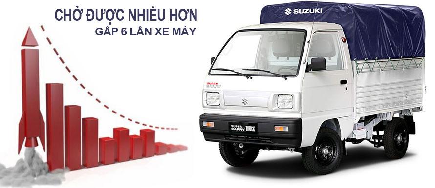 Xe tải Suzuki Truck thùng mui bạt, giúp tăng doanh số bán hàng