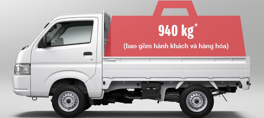 Tổng Tải trọng cho phép chở 940kg
