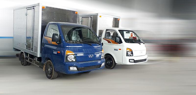 02 màu trắng xanh tùy chọn khi mua xe Hyundai Porter