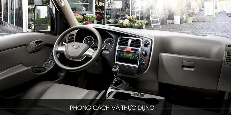 Khoang cabin tiện nghi Hyundai 1.5 tấn