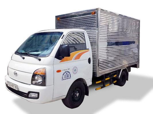 Xe tải Hyundai 1.5 tấn thùng kín inox
