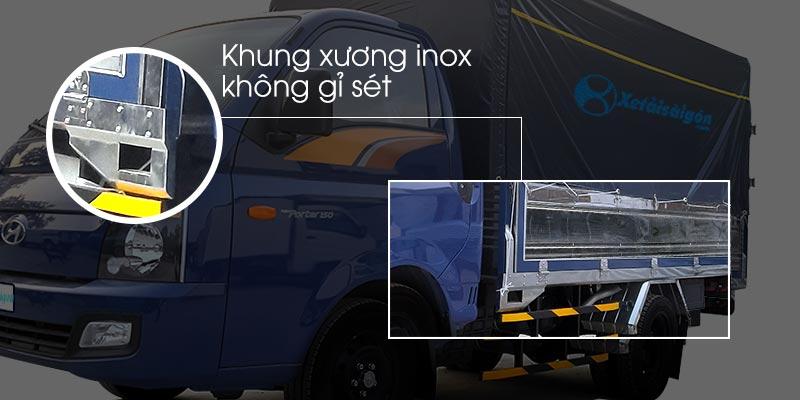 Khung xương xe tải 1.5 thùng mui bạt