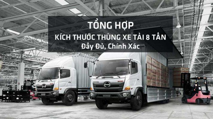 Kích thước thùng xe tải 8 tấn các loại