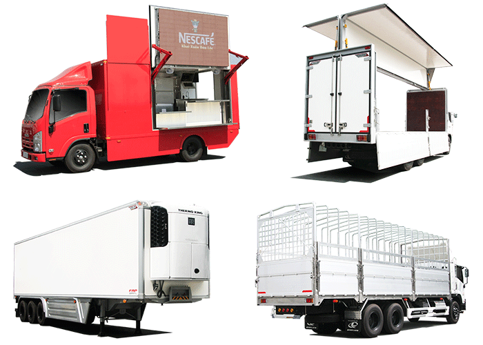 Đóng thùng xe tải các loại