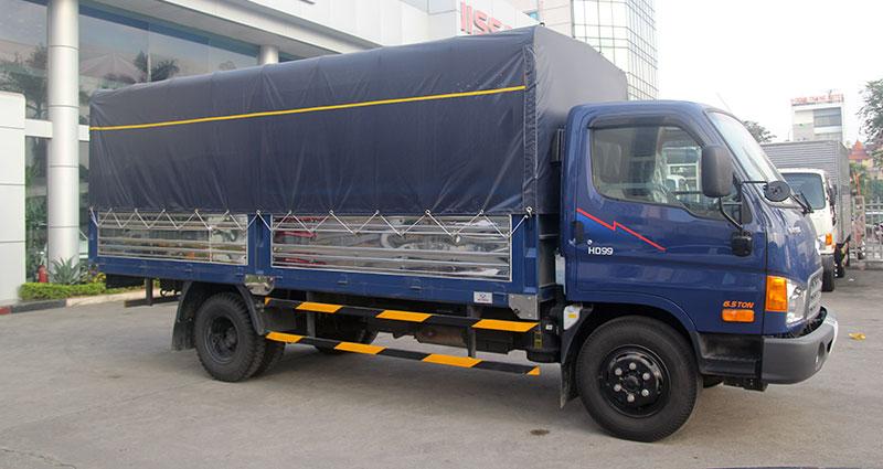 May ép bạt mui xe tải 6 tấn rưỡi