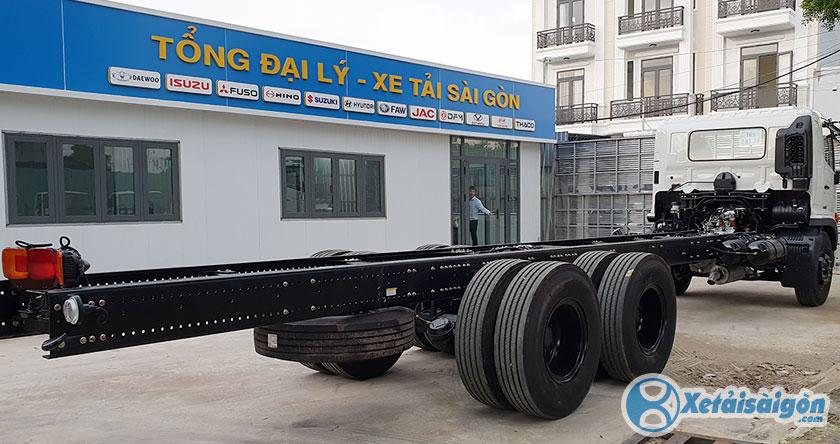 Chassi siêu dài của xe tải Hino 15 tấn