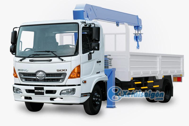 Xe tải Gắn cẩu Unic 3 tấn 4 khúc trên Hino FC