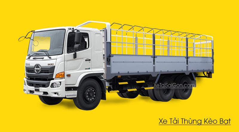 Xe tải Hino 16 tấn thùng mui bạt