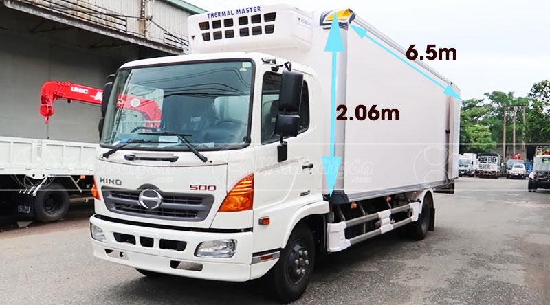 Xe tải Hino FC9JLTC Thùng Đông Lạnh Cao Cấp