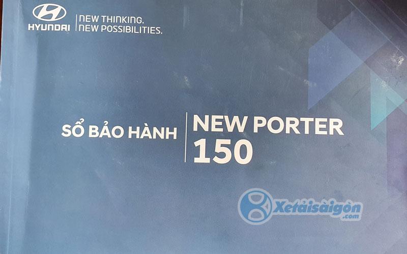 Sổ bảo hành xe tải Hyundai New Porter 150