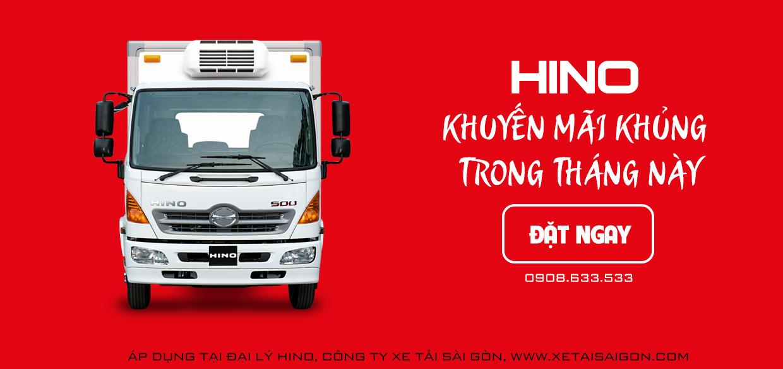 Xe tải Hino khuyến mãi trong tháng này