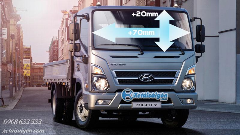 Tầm nhìn rộng rãi của Hyundai Mighty EX8