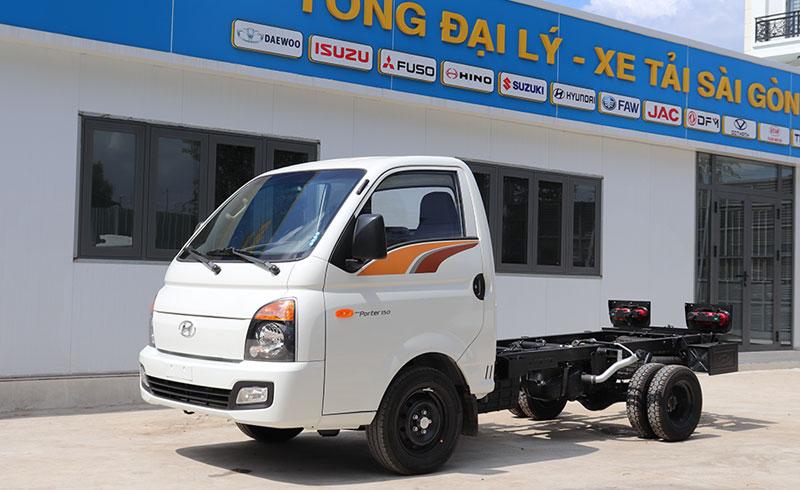 Chassi xe tải H150 thùng đông lạnh 1 tấn