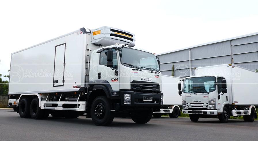 Xe Tải Isuzu FVM 1500 thùng đông lạnh 15 tấn