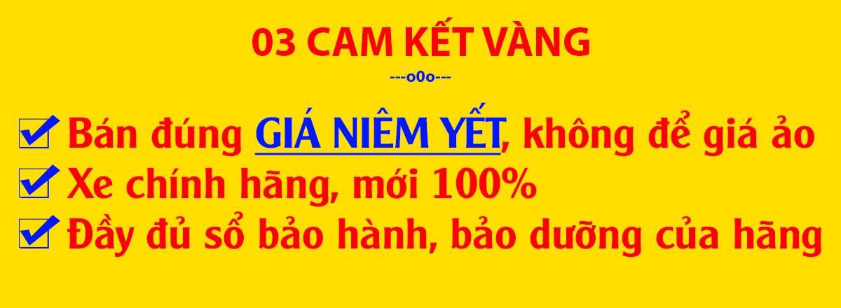 03 cam kết bán đúng giá niêm yết của Đại Lý Xe Tải Sài Gòn